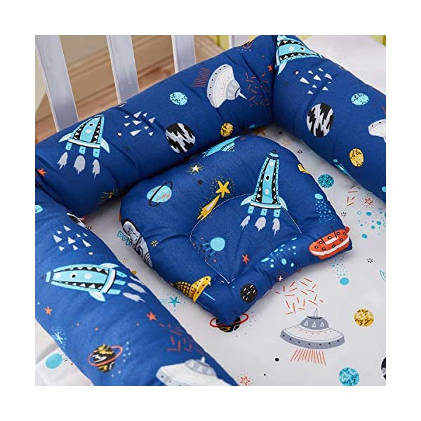 TEALP Multifunctional Baby Nest Navy Blue Galaxy Outer Space, Baby Bassinet for Bed/Lounger/Nest/Pod/Cot Bed/Sleeping, Breathable & Hypoallergenic Cotton (0-24 Months) TEALP 【Breathable and Hypoallergenic Cotton】hypoallergenic materials, breathable and non-toxic. We use 100-percent cotton fabric and breathable, hypoallergenic internal filler, which is safe for baby's sensitive skin. It will give your child serene, safe, and sound sleep in their lovely co sleeping crib. 【Adjustable Design】1 baby nest, 90x55x15cm;1 pillow30x30cm, Suitable for 0-24 Month. GROWS WITH YOUR BABY. Being adjustable, the side sleeper grows with your baby. Simply loosen the cord at the end of the bumpers to make the size larger. The ends of the bumpers can be fully opened. 【Multifunctional and Portable】 Use the infant nest as a bassinet for a bed, baby lounger pillow, travel bed, newborn pillow, changing station or move it around the house for lounging or tummy time, making baby feel more secure and cozy. 5