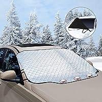 unibelin Frontscheibenabdeckung Scheibenabdeckung Auto Abdeckung Magnet Fixierung Faltbare Abnehmbare Windschutzscheibe perfekte gegen UV-Strahlung, Schnee, EIS, Frost und Sonne
