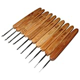 lzn Häkelnadel Häkelnadelset Bambus handgriff Needlecrafts Werkzeug Satz 0.5mm; 0,75 mm, 1 mm, 1,25 mm, 1,5 mm, 1,75 mm, 2 mm, 2,25 mm, 2,5 mm, 2,75 mm