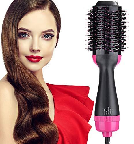 Damenie Haartrockner, Multifunktions 5 in 1 Warmluftbürste Heißluftbürste Hair Styler & Volumizer Negativer Ionen Föhn Heißluftkamm Volumen Haarglätter Bürste für Alle Haartypen
