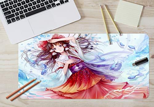 3D Rotes Kleid Mädchen 24 Japan Anime Spiel Rutschfest Büro Schreibtisch Maus Matte Spiel AJ WALLPAPER DE Zoe (B120cmxH60cm(47