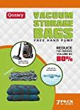 Vacuum Storage Bags* (7pack 90x 70CM )*Extra Large Thick Space Saver Bags* [Works With Any Vacuum Cleaner + FREE Hand-Pump for Travel!] Double-Zip Seal and Triple Seal Turbo-Valve for maximum Compression! 100% Money-Back Guarantee!