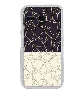 Black and White Zig Zag Pattern 2D Hard Polycarbonate Designer Back Case Cover for Motorola Moto G :: Motorola Moto G (1St Gen)