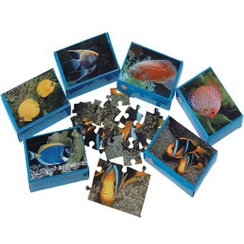 Dozen Assorted Mini Fish Theme Puzzles