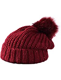 Chakil Berretto Uomo Donna di Lana Ispessimento Invernale per Mantenere  Caldo Cappelli Beanie Berretto in Lana 924cdd5a9cb2