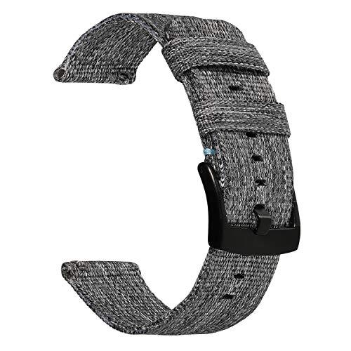 TRUMiRR Armband kompatibel mit Gear S3/ Galaxy Watch 46mm Armband, 22mm Woven Nylon Armband Edelstahl Verschluss Uhrenarmband Sport Uhrenband für Samsung Gear S3 Classic/Frontier