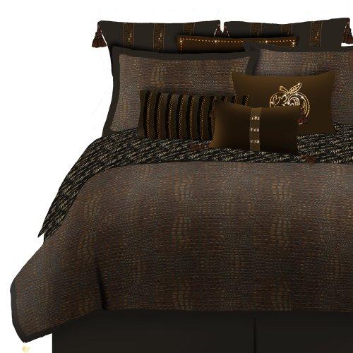Apple Hose SIARA Bett-Tröster Set, Polyester, braun/schwarz, Volle Größe