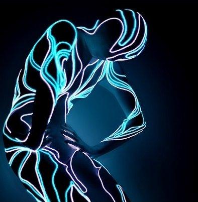 EL Wire, LED-Leuchtkabel - Led Licht Glow Stick Kostüm