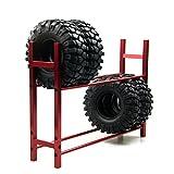 ZuoLan 1 pièce en métal Roue pneu porte-roue Tire Rack pour 1/10 rc crawler voiture Jantes Tire