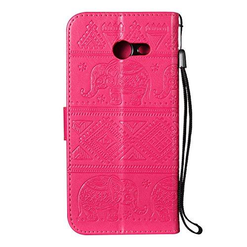 Für Samsung Galaxy J5 Prime Premium Leder Schutzhülle, weiche PU / TPU geprägte Textur Horizontale Flip Stand Case Cover mit Lanyard & Card Cash Holder ( Color : Blue ) Red