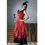 Damenkleid Ballkönigin rot-schwarz Gr.M Kleid Ballkleid Kostüm Südstaaten B-Ware