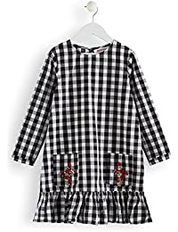 RED WAGON Vestito Gingham con Ricami Bambina