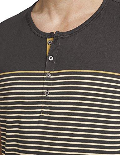 Schiesser Herren Zweiteiliger Schlafanzug Anzug Kurz M. Knopfleiste Braun (Gold 306)