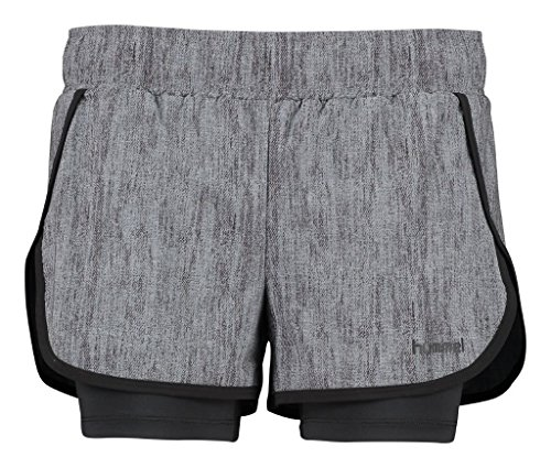 Hummel Damen Amy Shorts, Dark Grey Melange, M