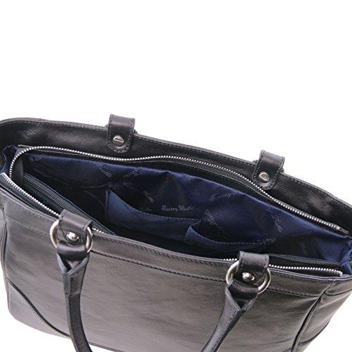 Tuscany Leather TL NeoClassic - Borsa a mano media in pelle Nero Borse donna a mano in pelle Nero