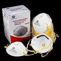 Petterson Accesorios Desechables Profesionales para el Cuidado de la Salud Mascarilla Anti-Polvo antivaho antivaho Antihumedad no Tejida Máscara ecológica (Blanco y Amarillo)