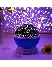 EXSESON Star Master Dream Rotating Projection Lamp Flashing Turret Star Moonlight Star Projector