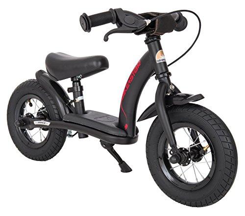 BIKESTAR Kinder Laufrad Lauflernrad Kinderrad für Jungen und Mädchen ab 2-3 Jahre | 10 Zoll Classic Kinderlaufrad | Schwarz
