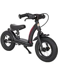 BIKESTAR® Original Premium Sicherheits-Kinderlaufrad für kleine Abenteurer ab 2 Jahren ★ 10er Classic Edition ★ Teuflisch Schwarz (matt)