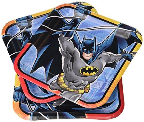 Amscan International Partyteller, Batman-Motiv, eckig, 23cm -