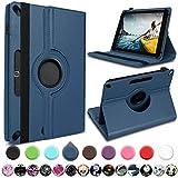 UC-Express Medion Lifetab E10414 E10604 E10412 E10511 E10513 E10501 Tablet Hülle Tasche Schutzhülle Cover 360° Drehbar, Farbe