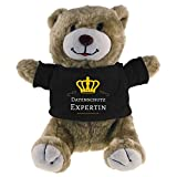 Kuscheltier Bär Datenschutz Expertin beige
