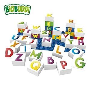 BiOBUDDi Learning Letters 36 pcs 36pieza(s) - Bloques de construcción de Juguete, 36 Pieza(s), Plaza, Carta, Preescolar, Niño/niña