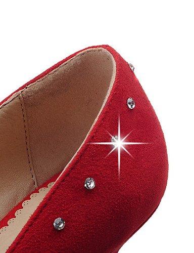 WSS 2016 Chaussures Femme-Bureau & Travail / Décontracté-Noir / Rouge / Gris-Kitten Heel-Talons / Confort / Bout Pointu-Talons-Laine synthétique gray-us7.5 / eu38 / uk5.5 / cn38