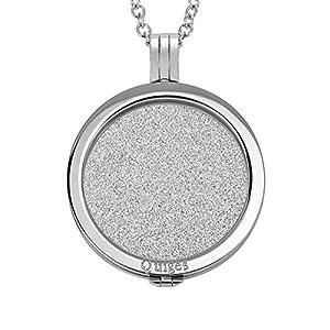Quiges 90cm Halskette Set Silber Edelstahl mit Anhänger und 33mm Coin Groß