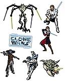 Unbekannt 7 tlg. Set Fensterbild - Star Wars Yedi Yoda - Sticker Fenstersticker Aufkleber selbstklebend wiederverwendbar the Clone Krieg der Sterne