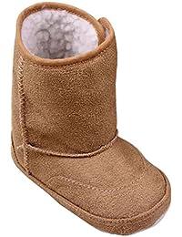Minetom Niñas Bebés Invierno Calor Botas de Nieve Suela Blanda Botas Pisos Zapatos del Niño