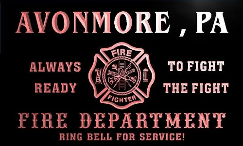 qy64656-r-fire-dept-avonmore-pa-pennsylvania-firefighter-neon-sign