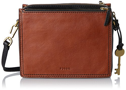 Fossil - Campbell, Borse a tracolla Donna Marrone (Brown)