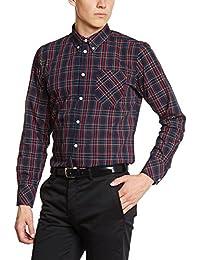Merc of London 1509214002 - Camisa casual de manga larga para hombre