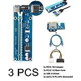 ELEGIANT USB 3.0 PCI-E Express 1x zu 16x Extender Riser Card Adapter Power Kable Mining