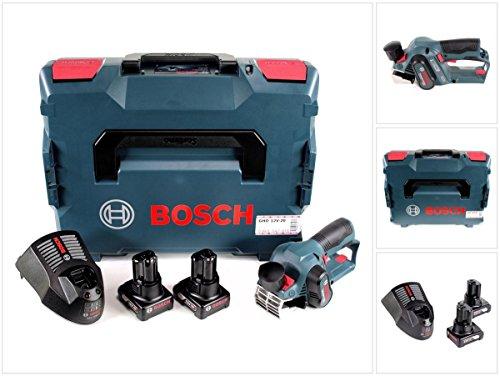 Bosch GHO 12V-20 Akku Hobel Professional in L-Boxx + 2x GBA 12 V 6,0 Ah Akku + GAL 1230 CV Schnell Ladegerät