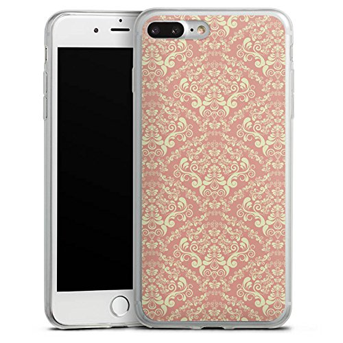 Apple iPhone 8 Plus Slim Case Silikon Hülle Schutzhülle Vintage Ornament Ornamente Silikon Slim Case transparent