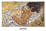 Set: Egon Schiele, L'Abbraccio, Gli Amanti II, 1917 Poster Stampa (91x61 cm) E 1x Poster da Collezione 1art1®