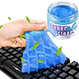 BESTZY Keyboard Cleaner Universal Cleaning Gel -Cans and Brushes Super Clean Quickly Remove Stains for PC Tablet Laptop Keyboards Car Vents Cameras Printers Calculators, 160g