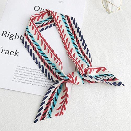 Dabixx Multi-Use Faux Silk Scarf Twilly Wrist Head Band Bag Ribbon Bow Tie Wrap Gift - 11#