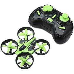 EACHINE E010 Mini UFO Cuadricóptero Drone 2.4G 4CH 6 Axis Headless RC Nano Teledirigido Quadcopter RTF Modo 2 (Verde)