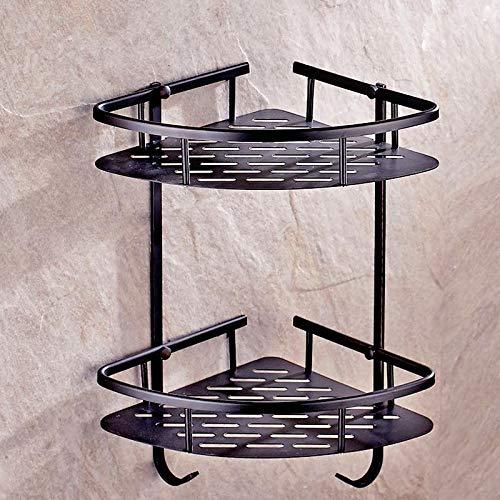 Schwarzes Dreieck-bar Set (Amgend Bad Hardware Aufhänger Set Paket Schwarz Kupfer Antike Handtuchhalter Bar Papierhalter Pinsel Bad-Accessoires Tf10, Dreieck Racks)
