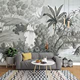 YFXGSTLI Tropical Feuilles De Banane Murale Papier Peint Paysage pour Salon Salle D'Étude Photo Papier Peint Peintures Murales 200x140cm