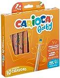 CARIOCA BABY LÁPICES 3in1 | 42818 - Lápices Super Grandes para Niños de 12 Meses, con Sacapuntas, 10 Colores