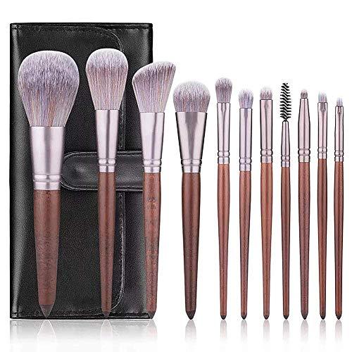 QZY Professional Makeup Brush 11 Pieces Makeup Brush Eyebrow Foundation Makeup Powder Eye Shadow Blush, inklusive Travel Bag - Eye Shadow 4 Loose Powder