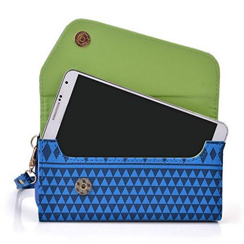 Kroo Pochette/étui style tribal urbain compatible avec Samsung Galaxy Note 3 Multicolore - jaune Multicolore - bleu marine