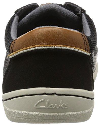Clarks Mapped Edge, Baskets Basses Homme Noir (Black Combi)