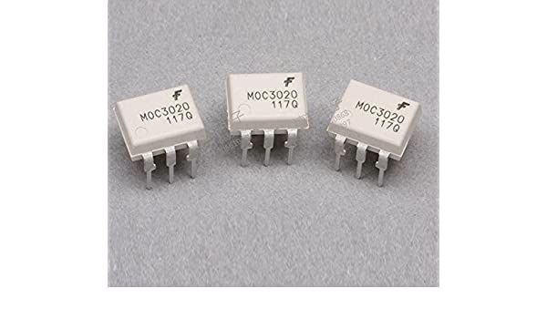 50PCS original DIP-6 MOC3020 Optoisolators Transistor Output FAIRCHILD