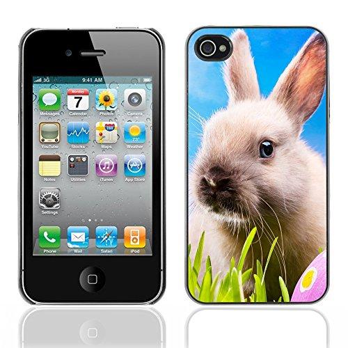 Graphic4You Niedlich Niedlich Kaninchen Hase Tier Design Harte Hülle Case Tasche Schutzhülle für Apple iPhone 4 und 4S Design #3