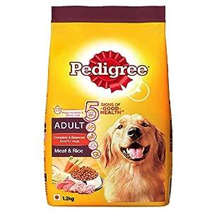 Pedigree Adult Dry Dog Food- Meat & Rice, 1.2kg Pack